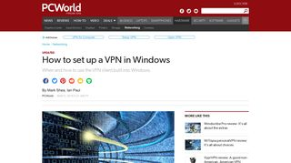 How to set up a VPN in Windows   PCWorld