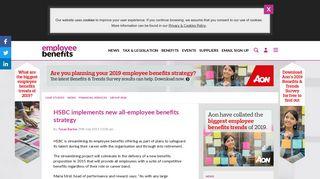 HSBC implements new all-employee benefits strategy - Employee ...