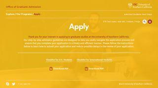 Apply – USC Graduate Admission