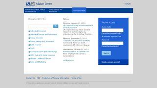 Insurance - Advisor Centre