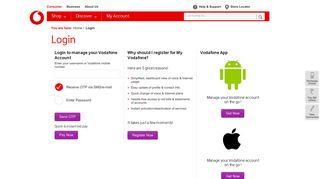 Vodafone India - Login