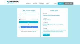 Login - Common Goal Systems, Inc. - TeacherEase