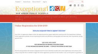 Registration / Homepage - Ann Arbor Public Schools