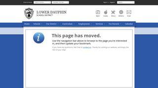 InfoSnap Returning Student Verification - Lower Dauphin School District