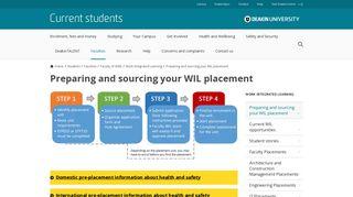 Organise your placement - Deakin University