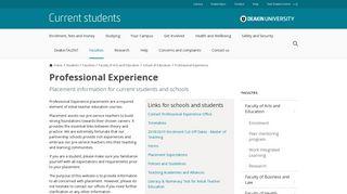 Professional Experience - Deakin University