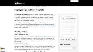 Employee Sign-in Sheet Template | eForms – Free Fillable Forms
