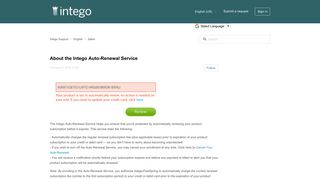 About the Intego Auto-Renewal Service – Intego Support