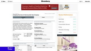Intermountain Gas Company: Private Company Information - Bloomberg