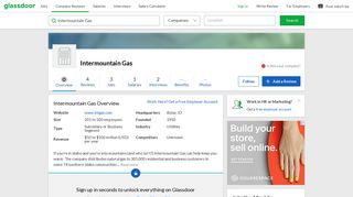Working at Intermountain Gas | Glassdoor
