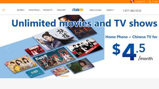 iTalkBB   Home Phone   Chinese TV   China SIM card