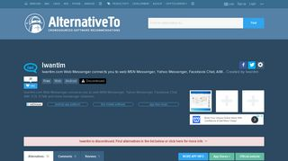 Iwantim Alternatives and Similar Apps and Websites - AlternativeTo.net