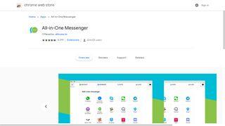All-in-One Messenger - Google Chrome