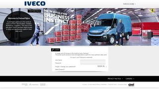 Iveco Single Sign On Portal (Login)