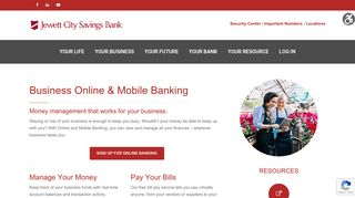 Business Online & Mobile Banking – Jewett City Savings Bank