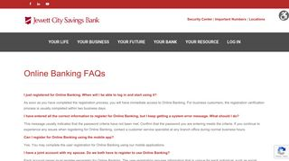 Online Banking FAQ – Jewett City Savings Bank