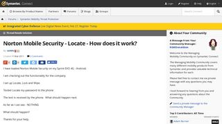 Norton Mobile Security - Locate - How does it work? | Symantec ...