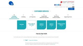 Customer Services Portal - How to Sign-up and Log-in   JTC - Creating ...