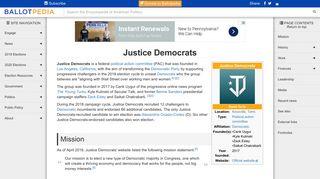 Justice Democrats - Ballotpedia