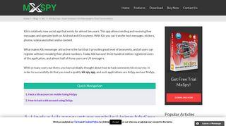 Kik Spy App – Hack Someone's Kik Messenger & Chat Conversations