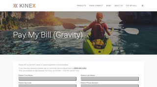 Pay My Bill (Gravity) – Kinex Connect CPM Device - Kinex Medical