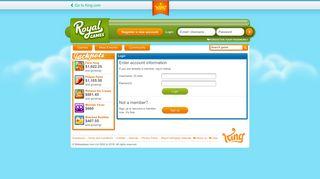 Login - Community at Royalgames.com - King