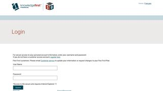 Home Français Login For secure access to your personal account ...