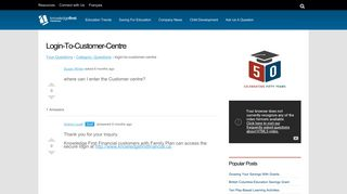 login-to-customer-centre - Knowledge First Financial