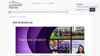 Get to know us - Lewisham Homes