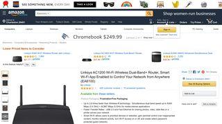 Amazon.com: Linksys AC1200 Wi-Fi Wireless Dual-Band+ Router ...
