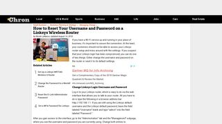 How to Reset Your Username and Password on a Linksys Wireless ...