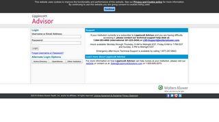 Lippincott Advisor: External User Login
