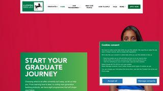 START YOUR GRADUATE JOURNEY – Lloyds Banking Group Talent