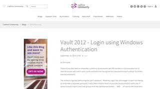 Vault 2012 - Login using Windows Authentication – Cadline Community
