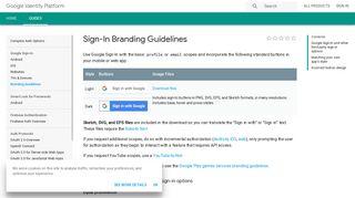 Sign-In Branding Guidelines | Google Identity Platform | Google ...