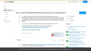Can I Use The Facebook Name And Logo On A Login Button? - Stack ...