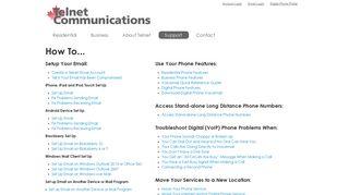 Telnet Communications Support
