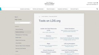 Tools on LDS.org