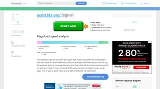 Access audit.lds.org. Sign in