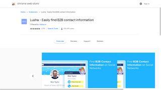 Lusha - Easily find B2B contact information - Google Chrome