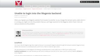 Unable to login into the Magento backend - Magento tutorials - Yireo