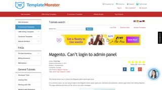 Magento. Can't login to admin panel - Template Monster Help