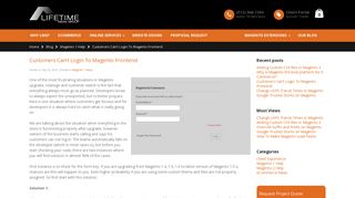 Customers Can't Login To Magento Frontend - Lifetime Media Group