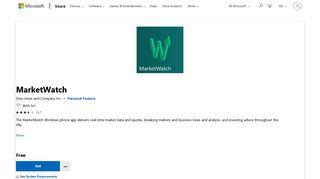 Get MarketWatch - Microsoft Store