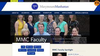 Faculty: Marymount Manhattan College