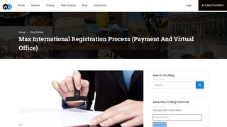 Max International Registration Process (Payment and Virtual Office)