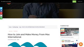 How to Join and Make Money From Max International | Web Design ...