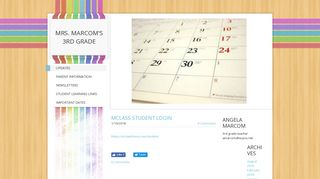 MClass Student Login - MRS. MARCOM'S 3RD GRADE