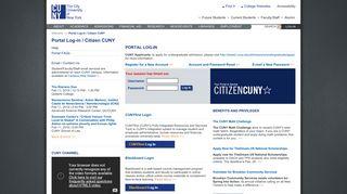 Portal Log-in/Citizen CUNY