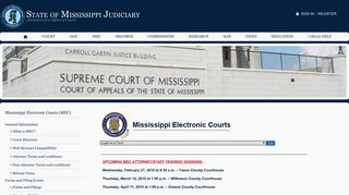 Mississippi Electronic Courts (MEC) - State of Mississippi Judiciary
